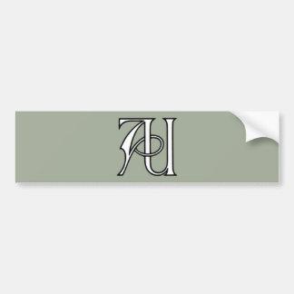 AU Monogram Bumper Sticker