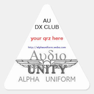 AU Triangular Stickers