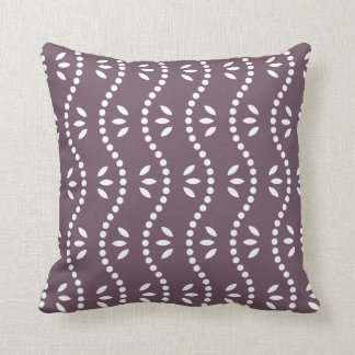 Aubergine Bamboo Pattern Pillow