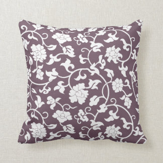 Aubergine Floral Pillow