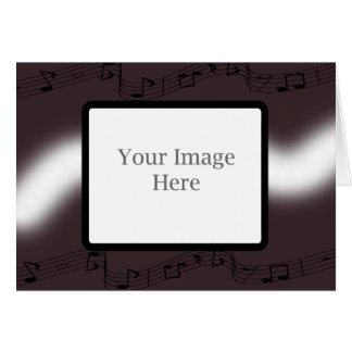 Aubergine Musical Christmas Card