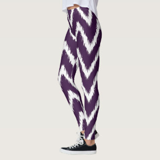 Aubergine Southern Cottage Chevrons Leggings
