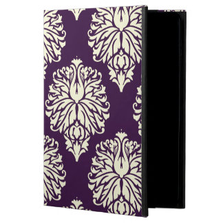 Aubergine Southern Cottage Damask Cover For iPad Air