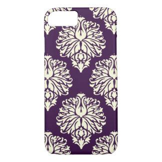 Aubergine Southern Cottage Damask iPhone 8/7 Case