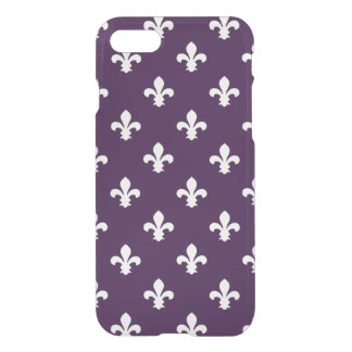 Aubergine Southern Cottage Fleur de Lys iPhone 8/7 Case