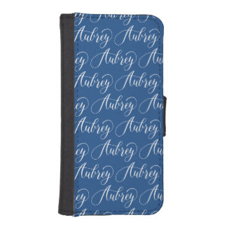 Aubrey - Modern Calligraphy Name Design iPhone SE/5/5s Wallet Case