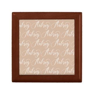 Aubrey - Modern Calligraphy Name Design Small Square Gift Box