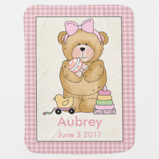 Aubrey's Personalized Baby Bear Blanket