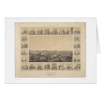 Auburn, California 1857 Panoramic Map (2508A) Greeting Card