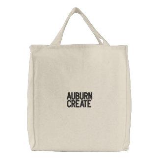 Auburn Create Embroidered Tote Bag