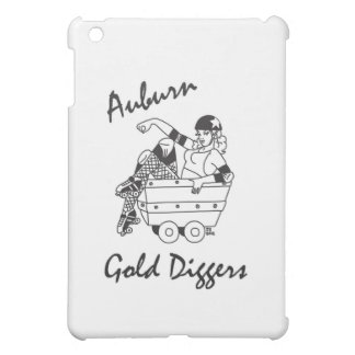 Auburn Gold Diggers Black and White Logo iPad Mini Cases