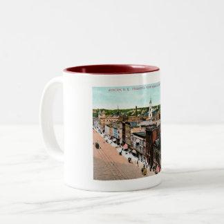 Auburn, New York, Bird's Eye View, Vintage Two-Tone Coffee Mug