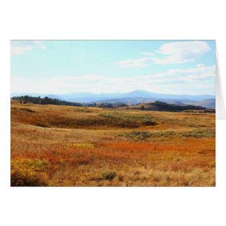 Auburn Yellowstone countryside Card