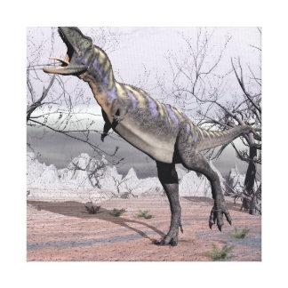 Aucasaurus dinosaur - 3D render Canvas Print