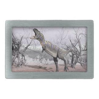 Aucasaurus dinosaur - 3D render Rectangular Belt Buckles