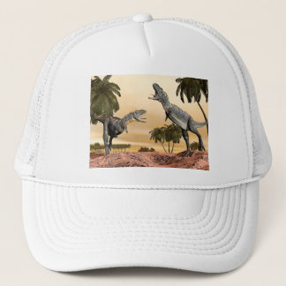 Aucasaurus dinosaurs fight - 3D render Trucker Hat