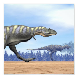 Aucasaurus dinosaurs running - 3D render Card