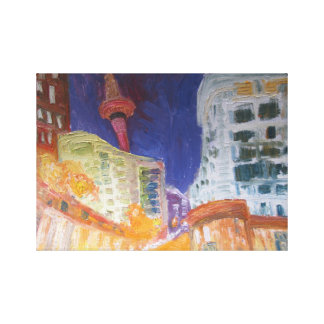 auckland at night night lights canvas print