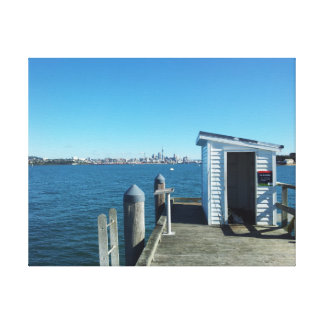 Auckland city from Torpedo Bay Wharf Gallery Wrapped Canvas