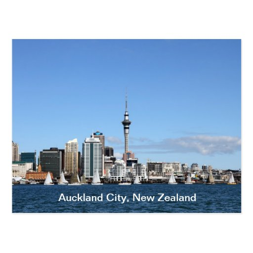 Auckland City, New Zealand by Day Postcard