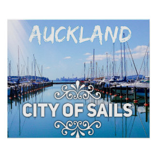 Auckland, City of Sails Stunning Poster
