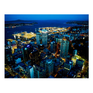 Auckland city view from the Sky Tower - Postcard