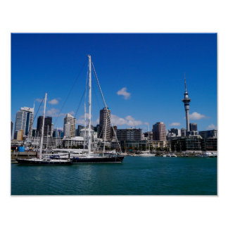 Auckland Harbour, New Zealand - Poster
