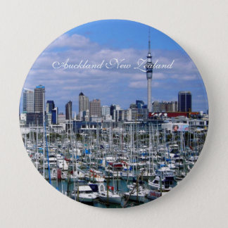 Auckland New Zealand -4 Inch Round Button