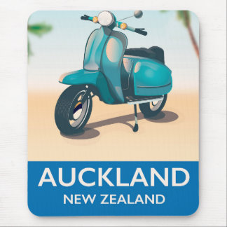 Auckland new zealand travel poster mouse pad