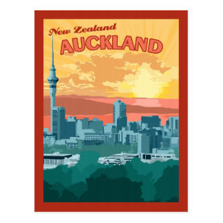 Auckland New Zealand - Vintage Travel Postcard