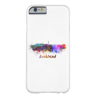 Auckland skyline in watercolor barely there iPhone 6 case