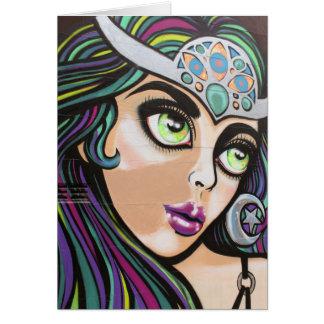 Auckland street art / grafitti greetings card