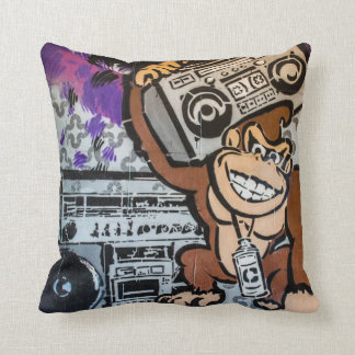 Auckland street art / grafitti throw pillow