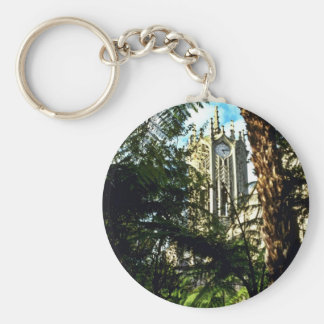 Auckland University Basic Round Button Key Ring