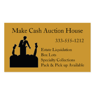 Auctioneer Auction House Business Card customize