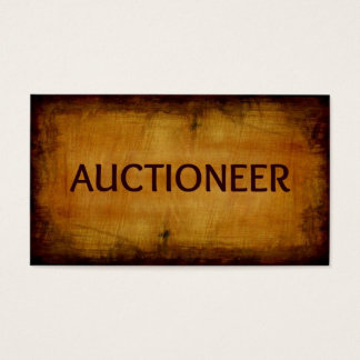 Auctioneer Business Card