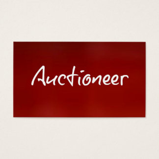 Auctioneer Red Business Card
