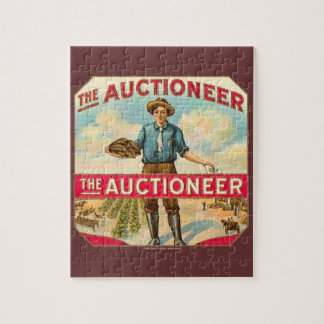 Auctioneer Vintage Cigar Label Jigsaw Puzzle