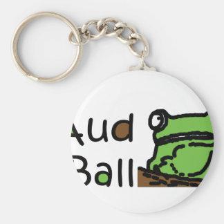 Aud Ball Frog logo Basic Round Button Key Ring
