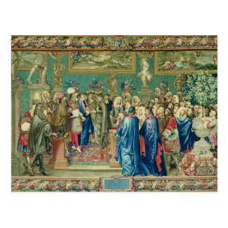 Audience Granted by Louis XIV  to the Count Postcard