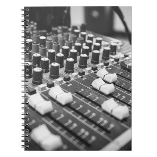 Audio Black And White Black White Concert Console Notebook