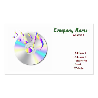 Audio Business card with 2010 calender Template