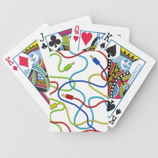 Audio cables poker deck