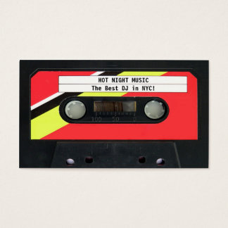 Audio Cassette DJ Business Card