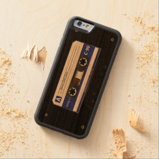 Audio Cassette Mix Tape Carved Cherry iPhone 6 Bumper Case