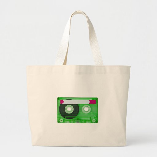 audio compact cassette tote bags