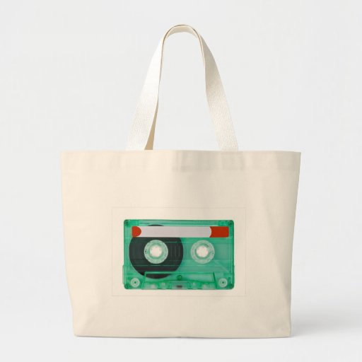 audio compact cassette tote bag