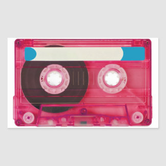audio compact cassette rectangular sticker