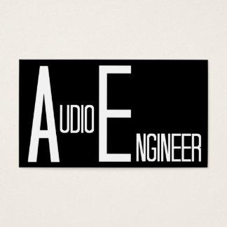 Audio Engineer Black Simple Business Card