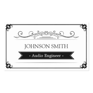 Audio Engineer - Classy Vintage Frame Pack Of Standard Business Cards